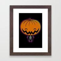 Cutie Pumpkin Pie Framed Art Print