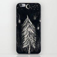 Midnight In A  Burning Forest iPhone & iPod Skin