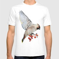 Waxwing Mens Fitted Tee White SMALL