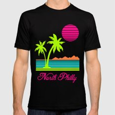 Tropical North Philly Mens Fitted Tee Black SMALL
