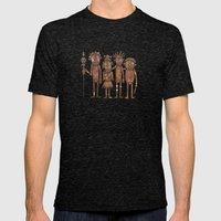 The Cannibals Mens Fitted Tee Tri-Black SMALL