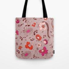 large floral print - pinks Tote Bag