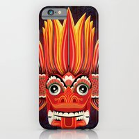 iPhone & iPod Case featuring Sri Lankan Fire Demon by UvinArt