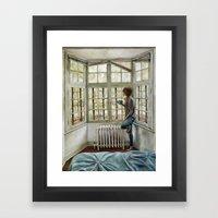 Front Window Framed Art Print