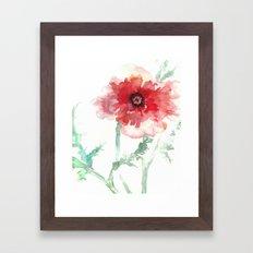 Poppy Watercolor Framed Art Print