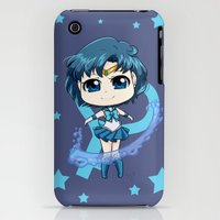 iPhone Cases featuring Sailor Mercury  by Kirael Art