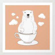 Take A Cup Of Bear Art Print