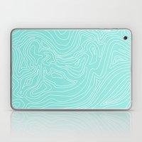 Ocean depth map - turquoise Laptop & iPad Skin