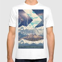 Out There Mens Fitted Tee White SMALL