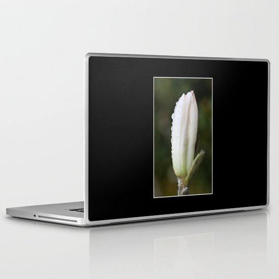 Magnolia in the rain Laptop & iPad Skin