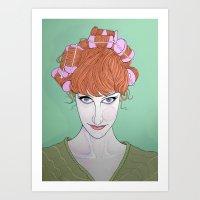 Marilyn In Curls Art Print