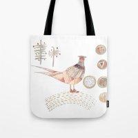 Decorative Pheasant Tote Bag
