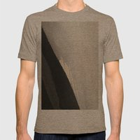 From white to black Mens Fitted Tee Tri-Coffee SMALL