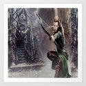 tauriel,thehobbit,lord of the rings,tauriel  throw pillow, tauriel  mugs, tauriel  t-shirt Art Print