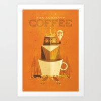 The Coffee Godess Art Print