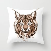 Iberian Lynx: Drifting Throw Pillow