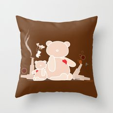 A Night with Ted Throw Pillow