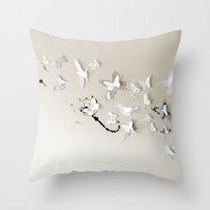 Butterfly Birds Throw Pillow
