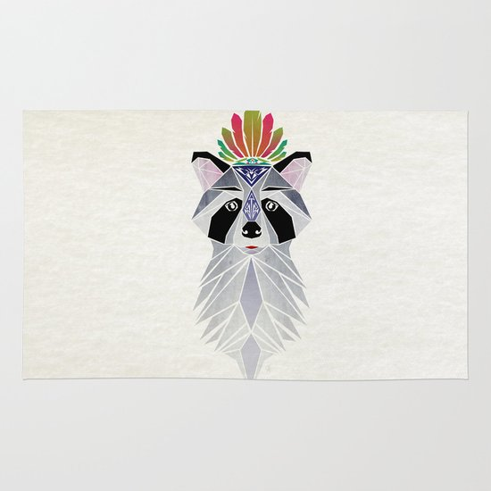raccoon spirit Area & Throw Rug