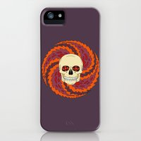 iPhone Cases featuring Psychedelic Skull by Richard Fay