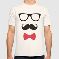 STAY CLASSY - MUSTACHE &… Mens Fitted Tee Natural SMALL