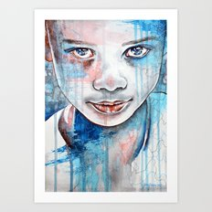 When the rain washes you clean, watercolor illustration Art Print