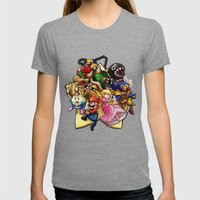 Legend of Seven Stars! Womens Fitted Tee Tri-Grey SMALL