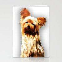 Yorkshire Puppy Tiny Dog Stationery Cards