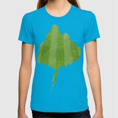 Grass Lightning Cloud Womens Fitted Tee Teal SMALL