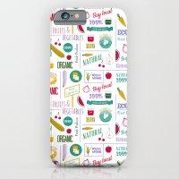 Farmers market pattern - white iPhone 6 Slim Case