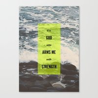 ARMS ME WITH STRENGTH Canvas Print