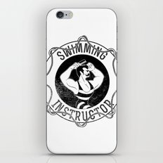 Swimming instructor iPhone & iPod Skin