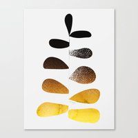 Gold Ombre Plant Canvas Print