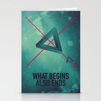 WHAT BEGINS ALSO ENDS Stationery Cards