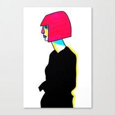 black dress Canvas Print