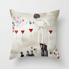 Women thoughts Throw Pillow