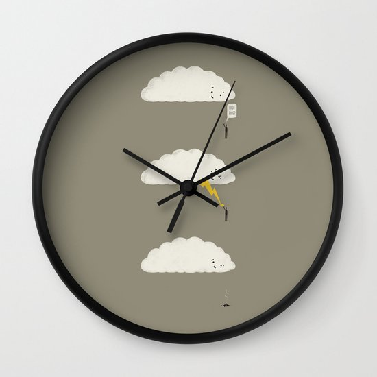 Cloud High Five Wall Clock