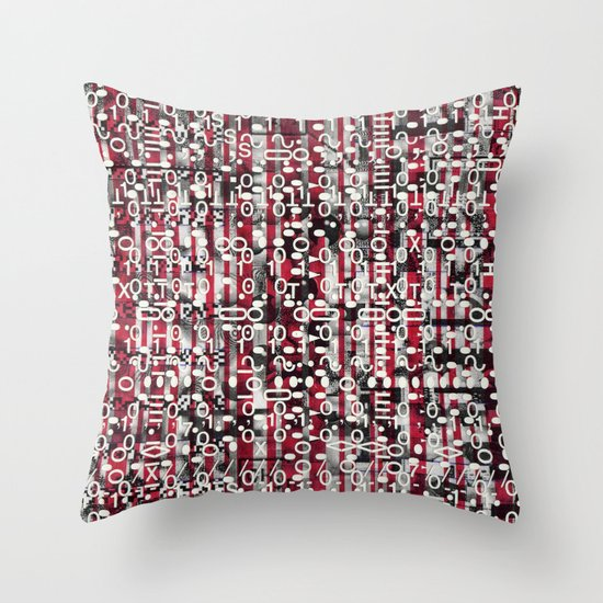 Linear Thinking Trip-Switch (P/D3 Glitch Collage Studies) Throw Pillow