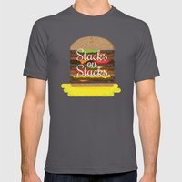 Stacks on Stacks Mens Fitted Tee Asphalt SMALL