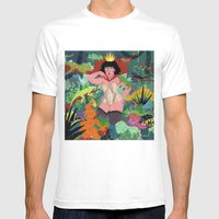 The Lizard Queen Mens Fitted Tee White SMALL