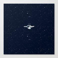 Startrek Star ship Enterprise NCC-1701 Canvas Print