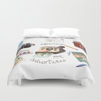 Document Your Adventures Duvet Cover