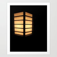 Asian Lamp In The Night Art Print