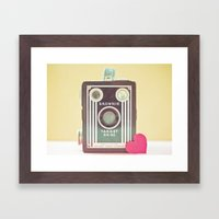 I Heart Photography Framed Art Print