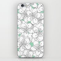 Cherry Blossom With Mint… iPhone & iPod Skin