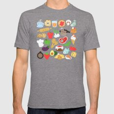 Cute food Mens Fitted Tee Tri-Grey SMALL
