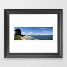 Downhill Beach Framed Art Print