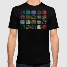 Boxed In Black Mens Fitted Tee SMALL