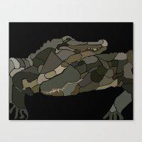 Mellifluous Crocodiles Canvas Print