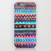 iPhone & iPod Case featuring PATTERN {Tribal Stripe- Aqua} by Schatzi Brown